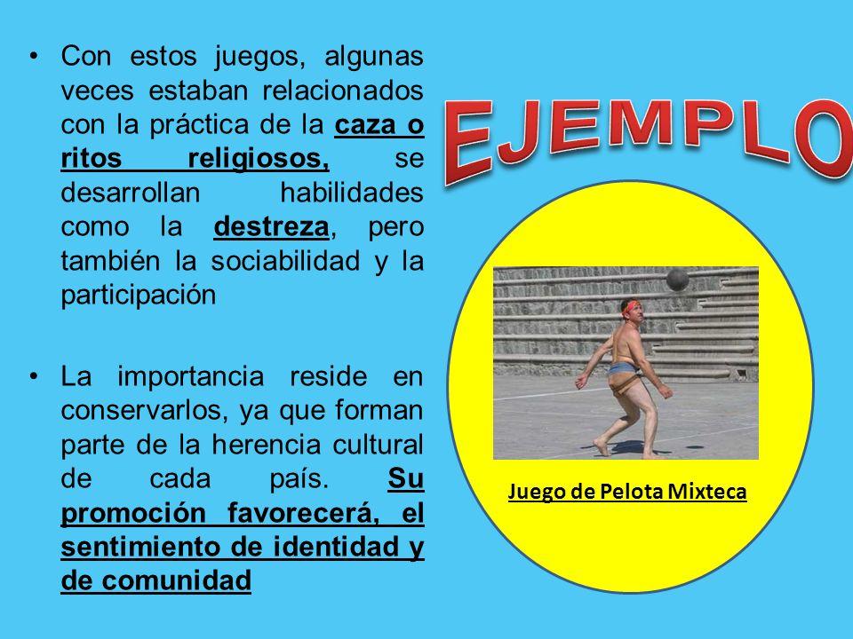 Los Juegos y Deportes tradicionales y autóctonos No deberían perderse, sirven para enseñarles a los niños/as sus valores.
