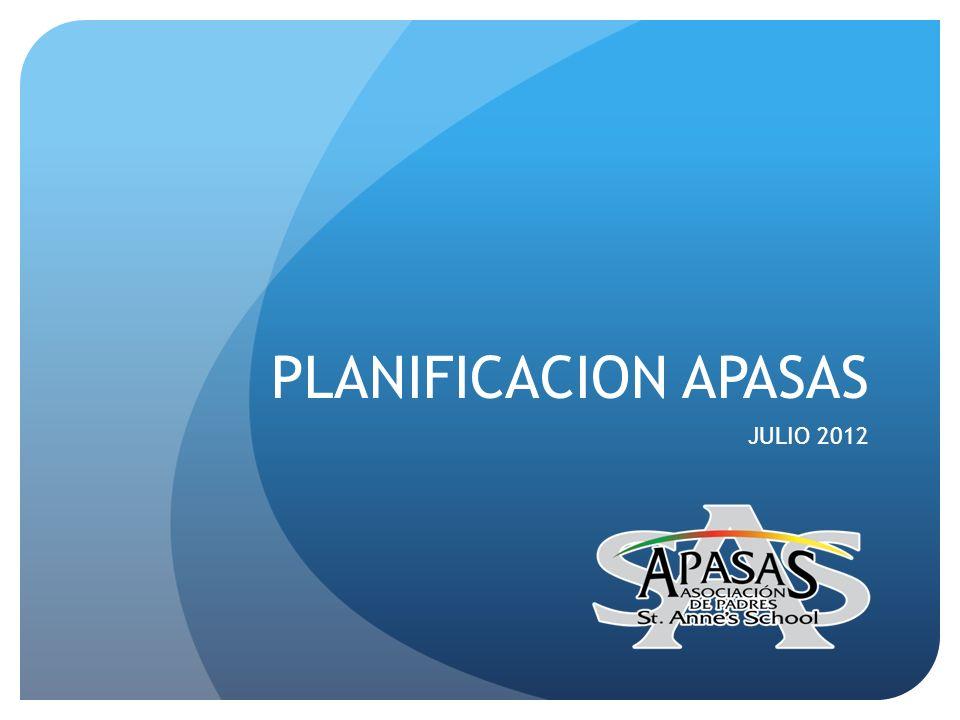 PLANIFICACION APASAS JULIO 2012