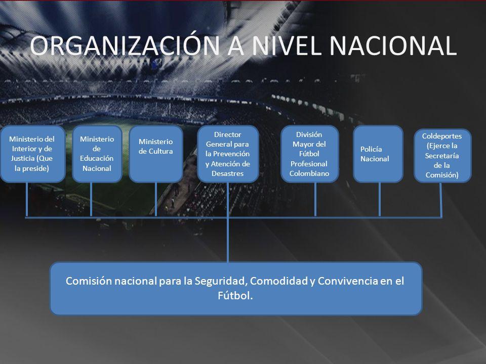 Ministerio de Educación Nacional Comisión nacional para la Seguridad, Comodidad y Convivencia en el Fútbol. Ministerio de Cultura Director General par