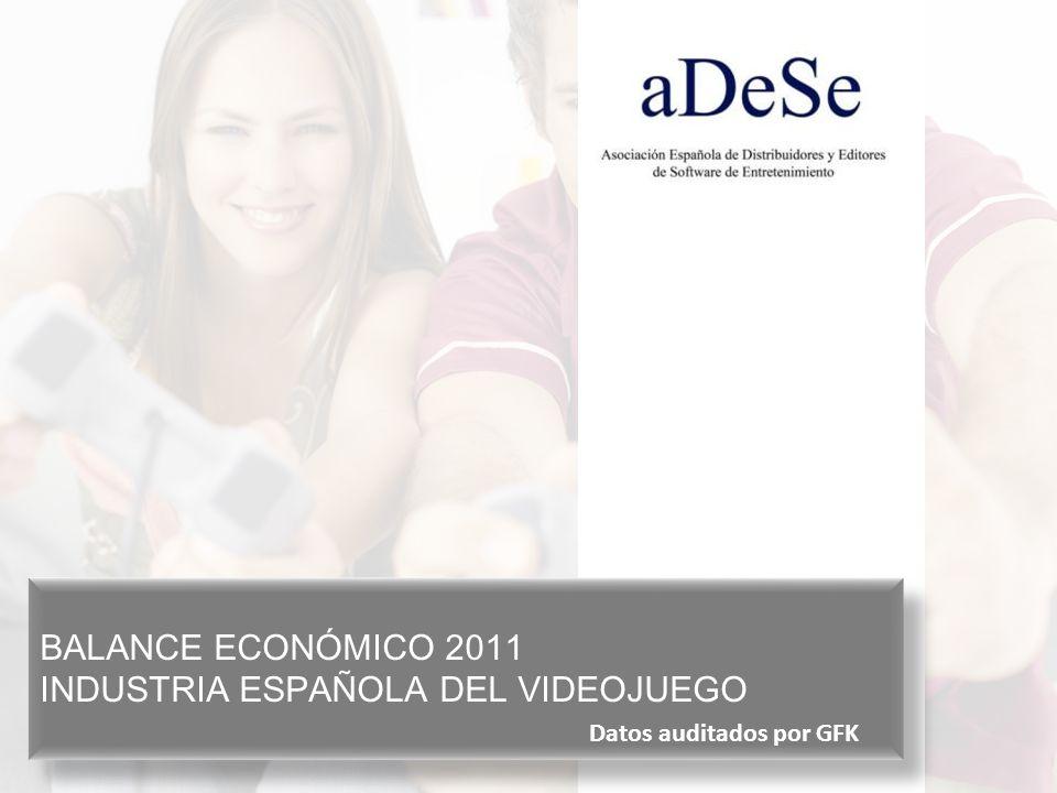 BALANCE ECONÓMICO 2011 INDUSTRIA ESPAÑOLA DEL VIDEOJUEGO BALANCE ECONÓMICO 2011 INDUSTRIA ESPAÑOLA DEL VIDEOJUEGO Datos auditados por GFK