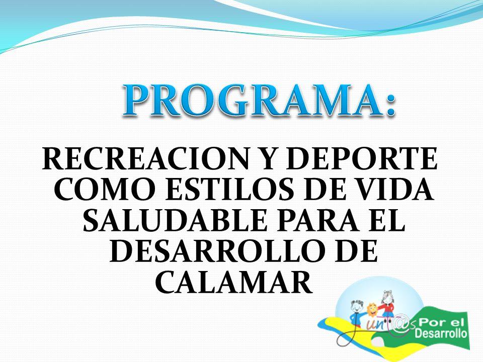 RECREACION Y DEPORTE COMO ESTILOS DE VIDA SALUDABLE PARA EL DESARROLLO DE CALAMAR