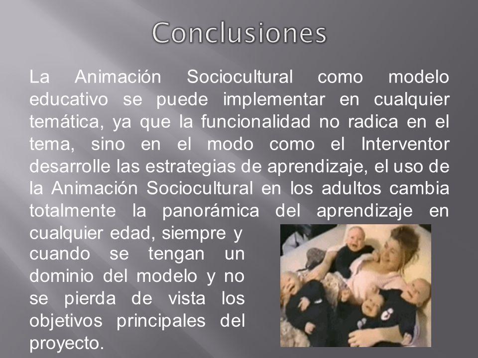 La Animación Sociocultural como modelo educativo se puede implementar en cualquier temática, ya que la funcionalidad no radica en el tema, sino en el