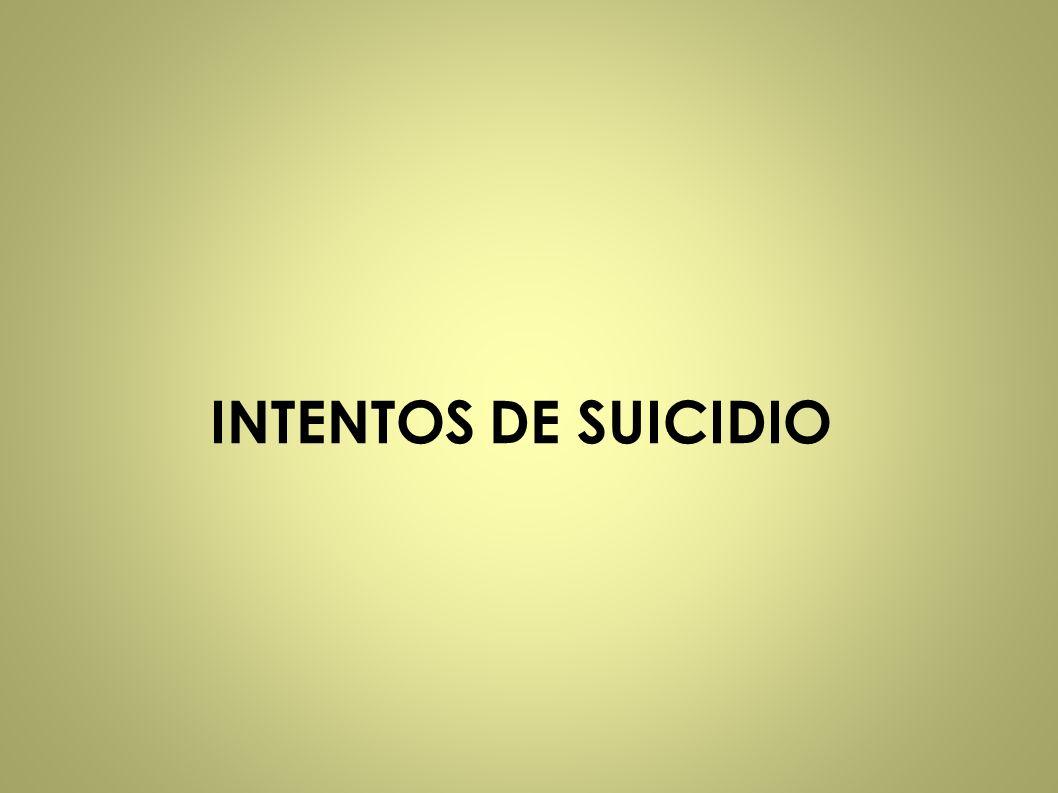 INTENTOS DE SUICIDIO