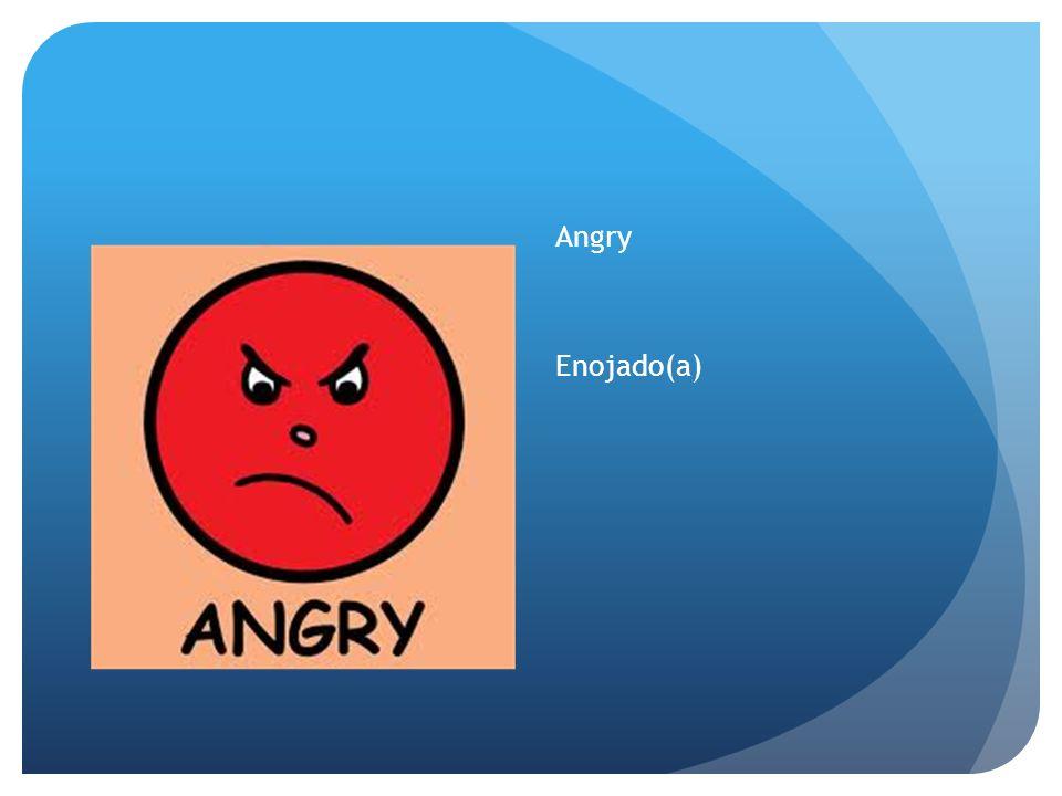 Angry Enojado(a)