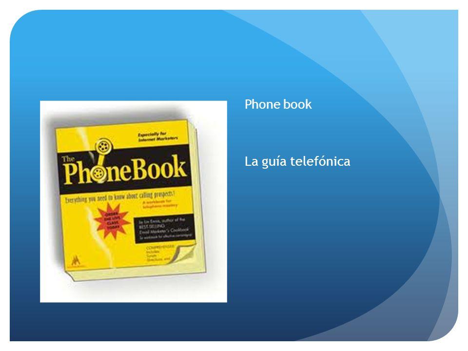 Phone book La guía telefónica