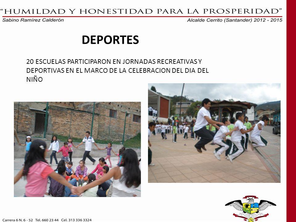 DEPORTES 20 ESCUELAS PARTICIPARON EN JORNADAS RECREATIVAS Y DEPORTIVAS EN EL MARCO DE LA CELEBRACION DEL DIA DEL NIÑO