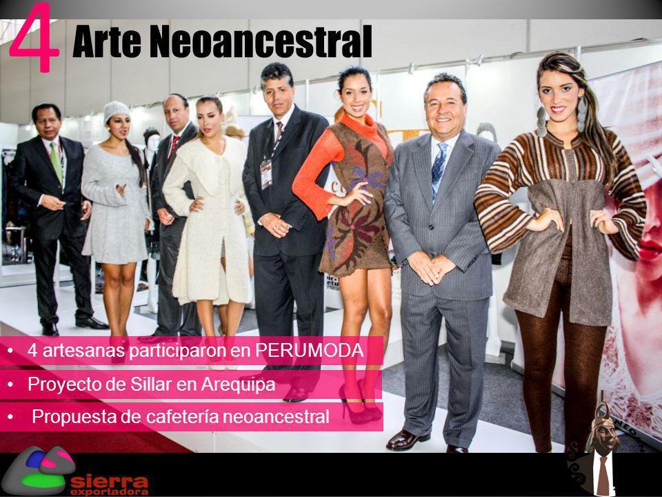 4 artesanas participaron en PERUMODA Proyecto de Sillar en Arequipa Propuesta de cafetería neoancestral Arte Neoancestral 4