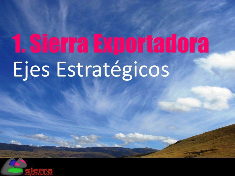 1. Sierra Exportadora Ejes Estratégicos