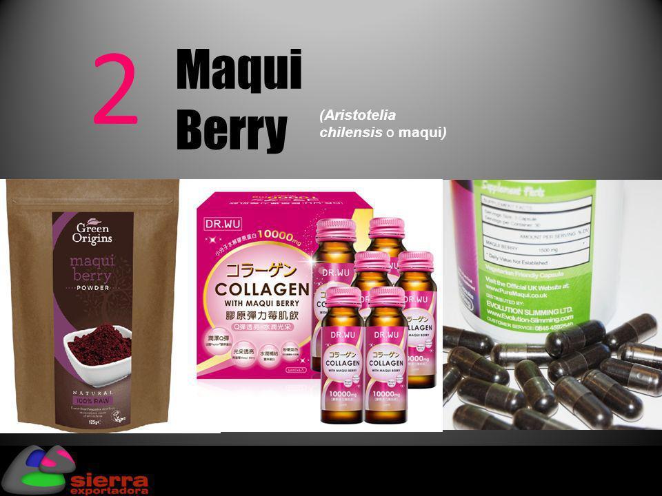 2 Maqui Berry ( Aristotelia chilensis o maqui )