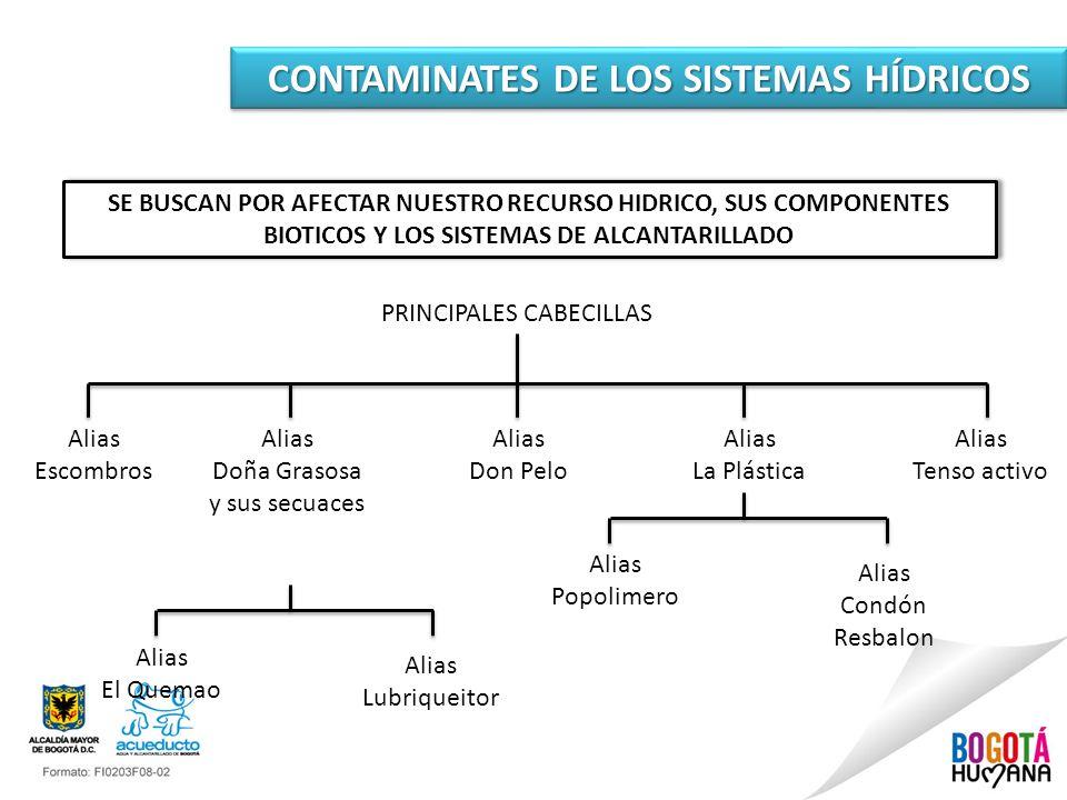 CONTAMINATES DE LOS SISTEMAS HÍDRICOS SE BUSCAN POR AFECTAR NUESTRO RECURSO HIDRICO, SUS COMPONENTES BIOTICOS Y LOS SISTEMAS DE ALCANTARILLADO PRINCIP