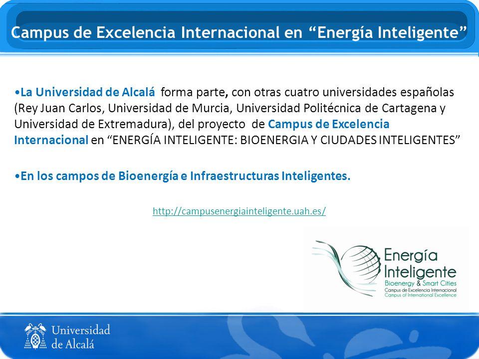 La Universidad de Alcalá forma parte, con otras cuatro universidades españolas (Rey Juan Carlos, Universidad de Murcia, Universidad Politécnica de Car