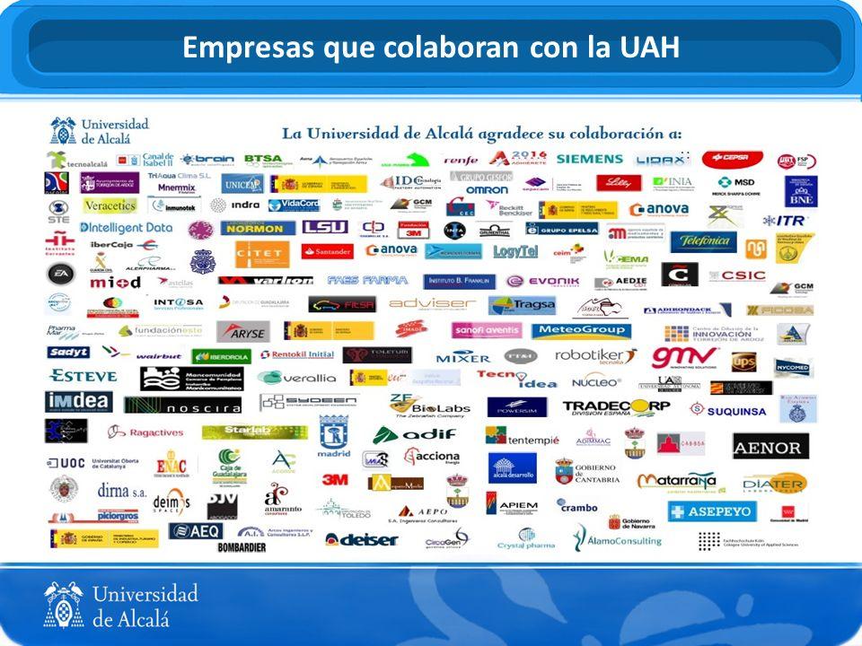 Empresas que colaboran con la UAH