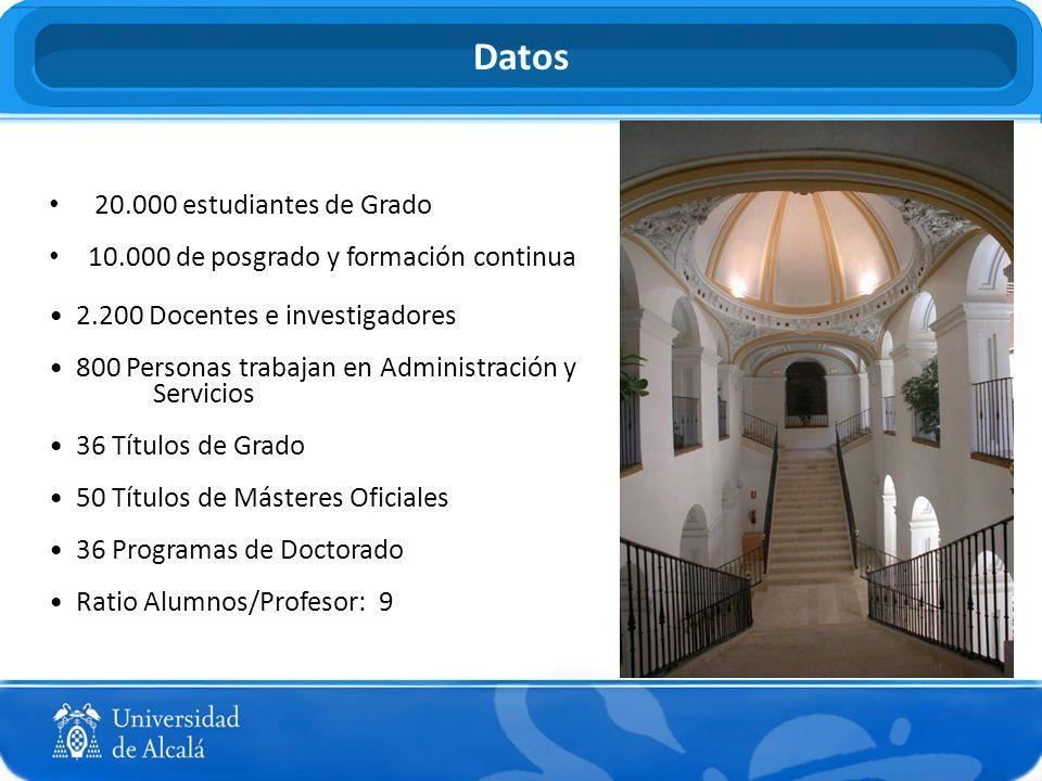 TODA LA INFORMACIÓN RELATIVA A LOS ESTUDIOS QUE SE PUEDEN CURSAR EN LA UAH PUEDE ENCONTRARSE EN ESPAÑOL Y EN INGLÉS EN LA PÁGINA WEB DE LA UNIVERSIDAD DE ALCALÁ https://portal.uah.es/portal/page/portal/portal_internacional/nuestros_estudios/ Estudios Oficiales de Posgrado