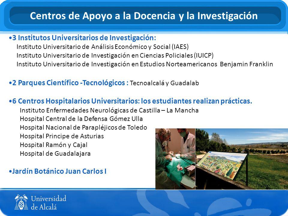 3 Institutos Universitarios de Investigación: Instituto Universitario de Análisis Económico y Social (IAES) Instituto Universitario de Investigación e