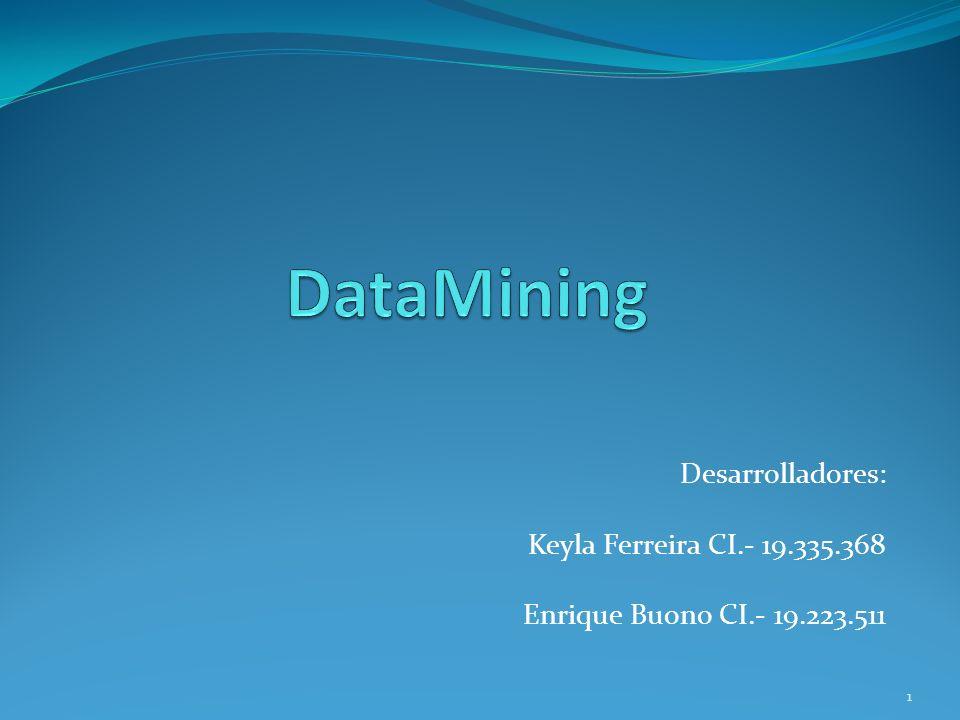 Mediante una técnica de minería de datos, se obtiene un modelo de conocimiento, que representa patrones de comportamiento observados en los valores de las variables del problema o relaciones de asociación entre dichas variables.