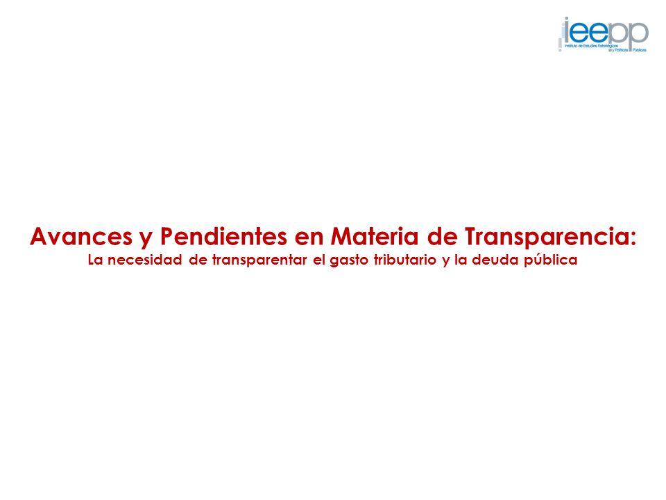 Avances y Pendientes en Materia de Transparencia: La necesidad de transparentar el gasto tributario y la deuda pública