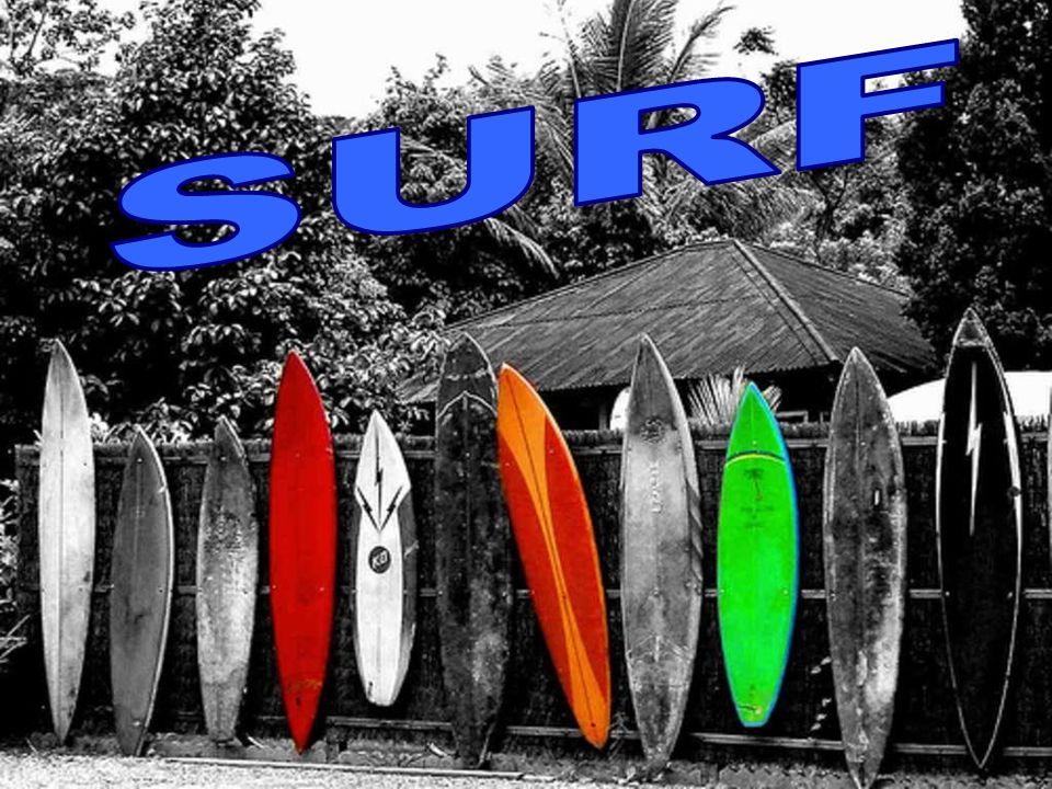 El surf es un deporte que consiste en deslizarse sobre las olas del mar de pie sobre una tabla, dirigiéndola gracias a una o varias quillas situadas e