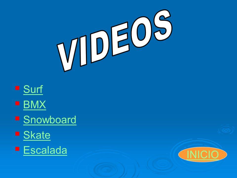 Surf BMX Snowboard Skate Escalada INICIO