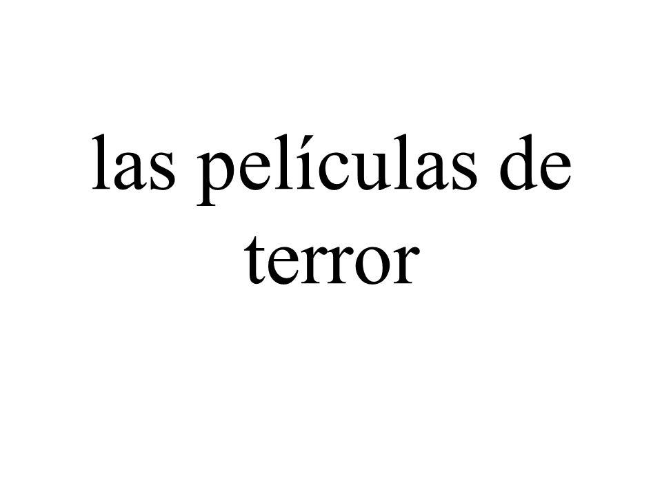 las películas de terror