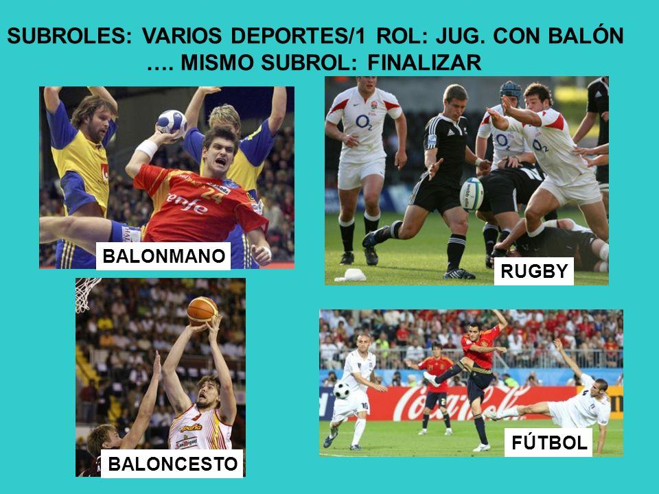 SUBROLES: VARIOS DEPORTES/1 ROL: JUG.CON BALÓN ….