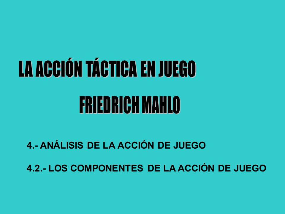 4.- ANÁLISIS DE LA ACCIÓN DE JUEGO 4.2.- LOS COMPONENTES DE LA ACCIÓN DE JUEGO