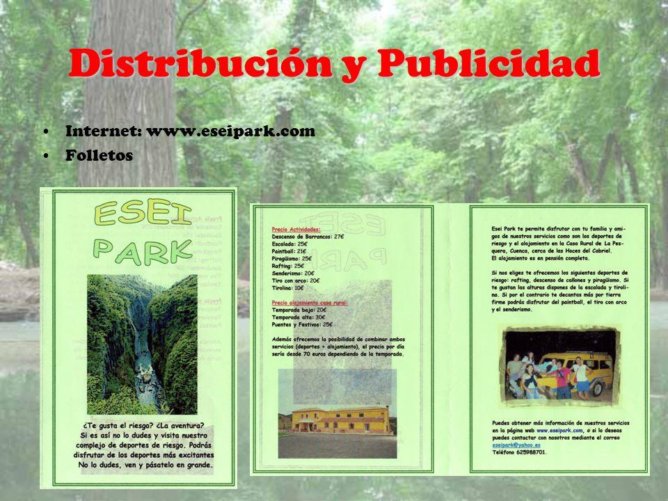 Distribución y Publicidad Internet: www.eseipark.com Folletos