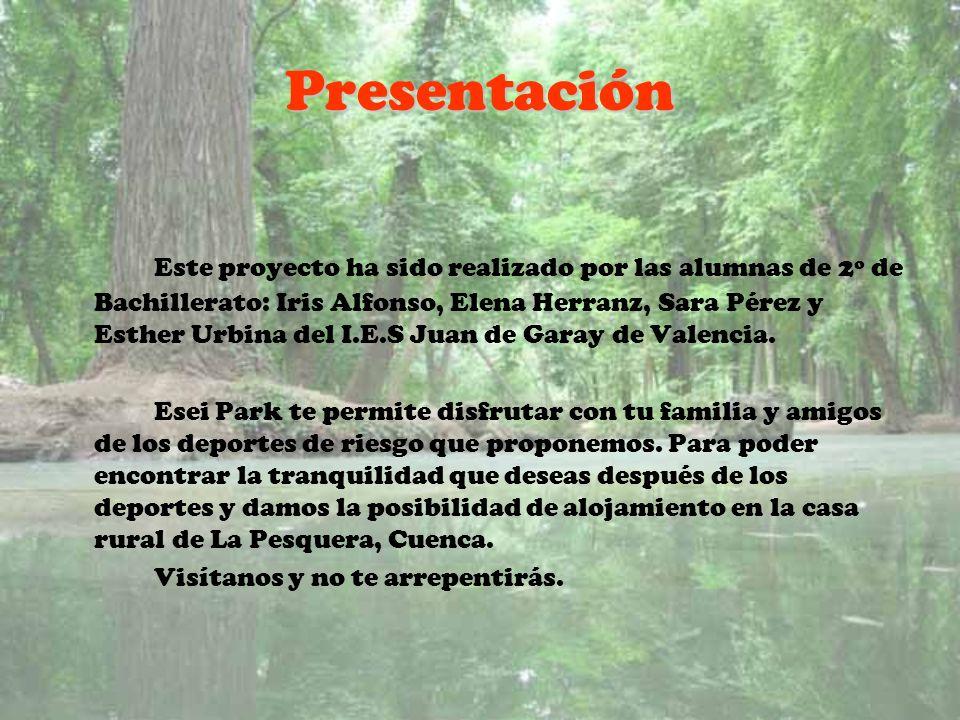 Presentación Este proyecto ha sido realizado por las alumnas de 2º de Bachillerato: Iris Alfonso, Elena Herranz, Sara Pérez y Esther Urbina del I.E.S