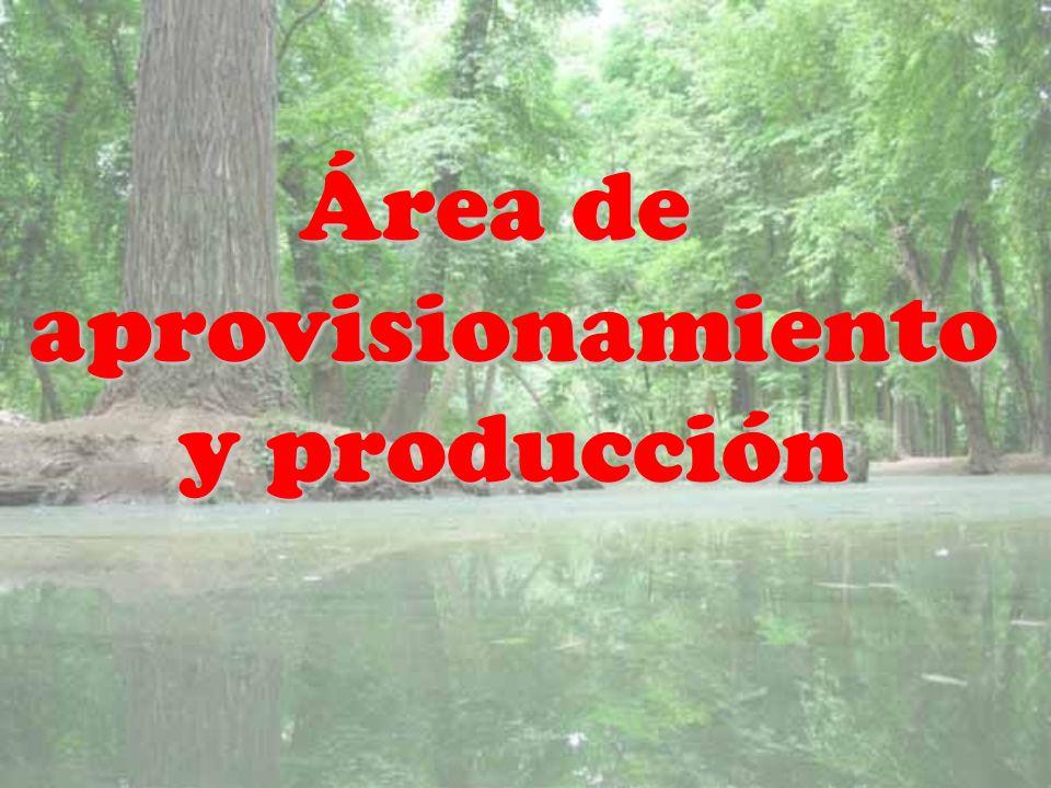 Área de aprovisionamiento y producción