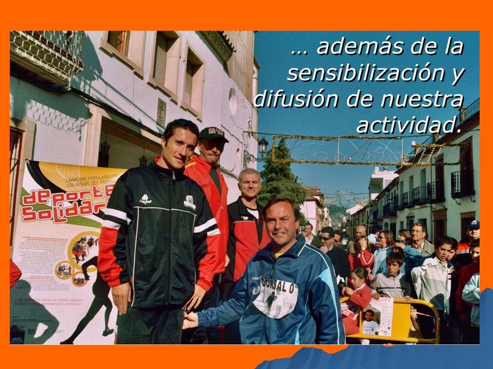 … con la realización de programas deportivos, actividades educativas …