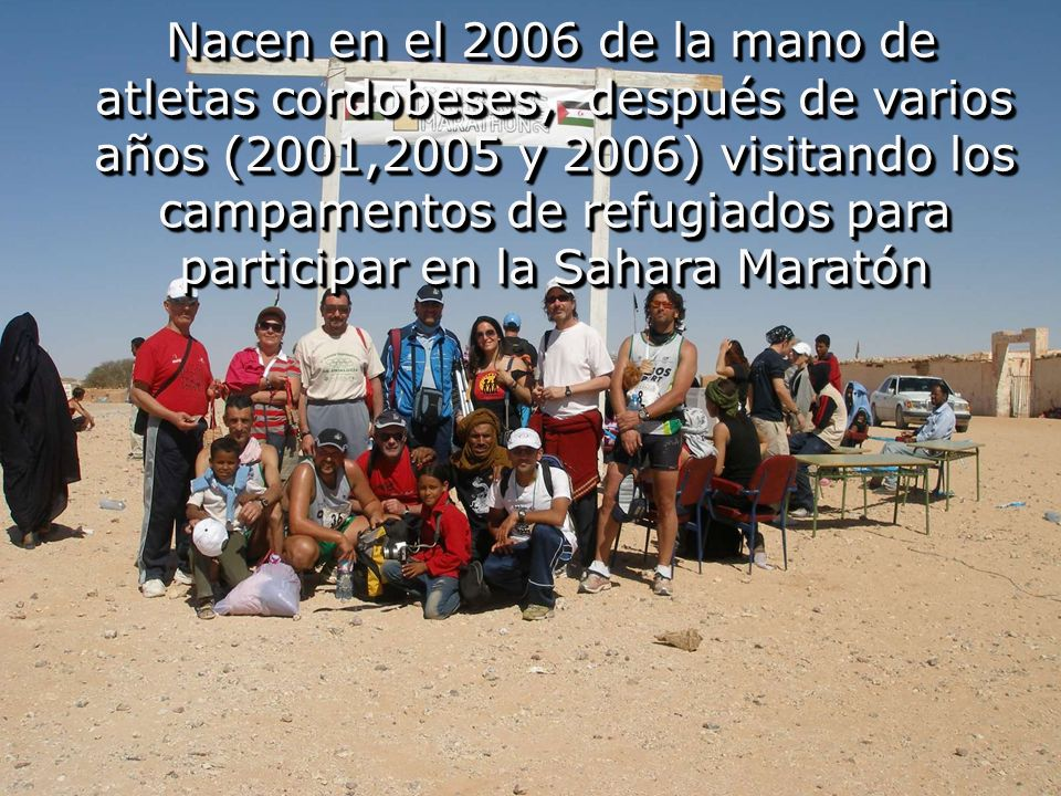 Clubes de Atletismo y las Asociaciones solidarias con el deporte en el Sahara Clubes de Atletismo y las Asociaciones solidarias con el deporte en el Sahara