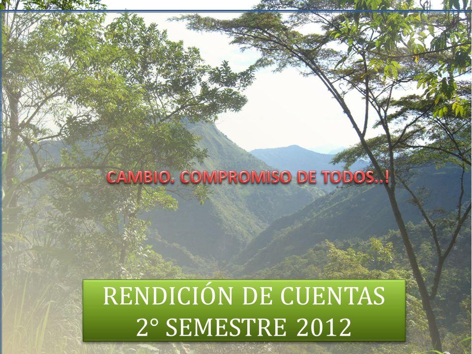 RENDICIÓN DE CUENTAS 2° SEMESTRE 2012