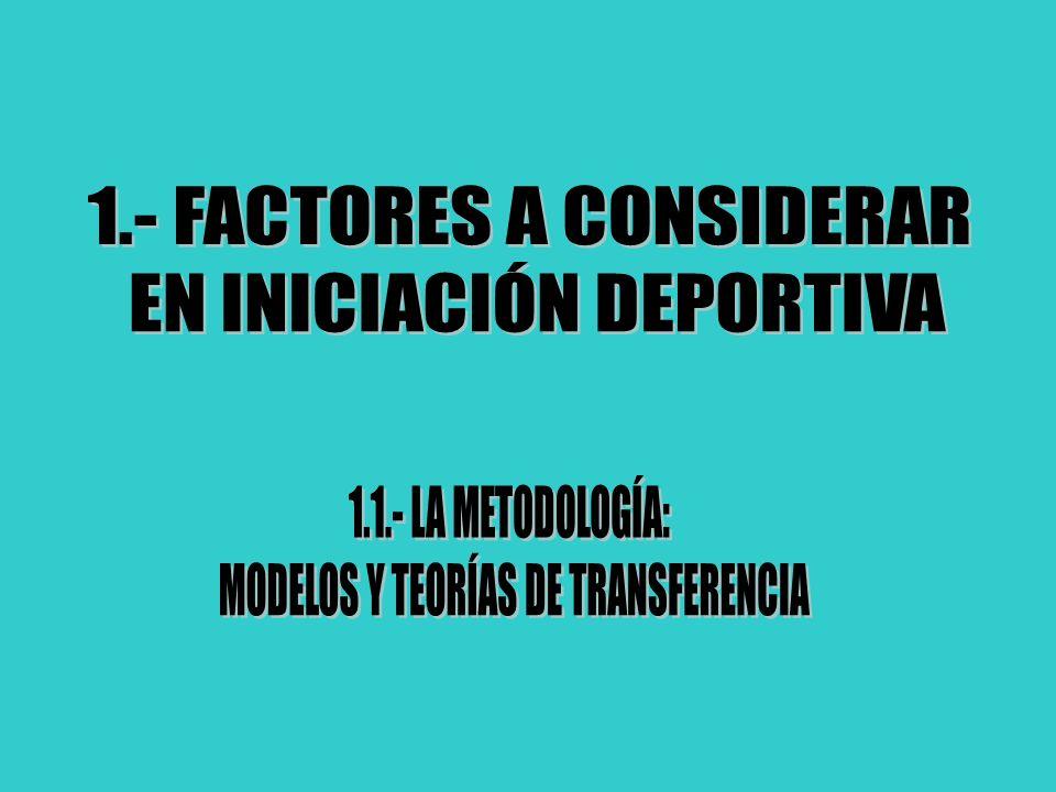TEMA 1: FACTORES A CONSIDERAR EN INICIACIÓN DEPORTIVA J.