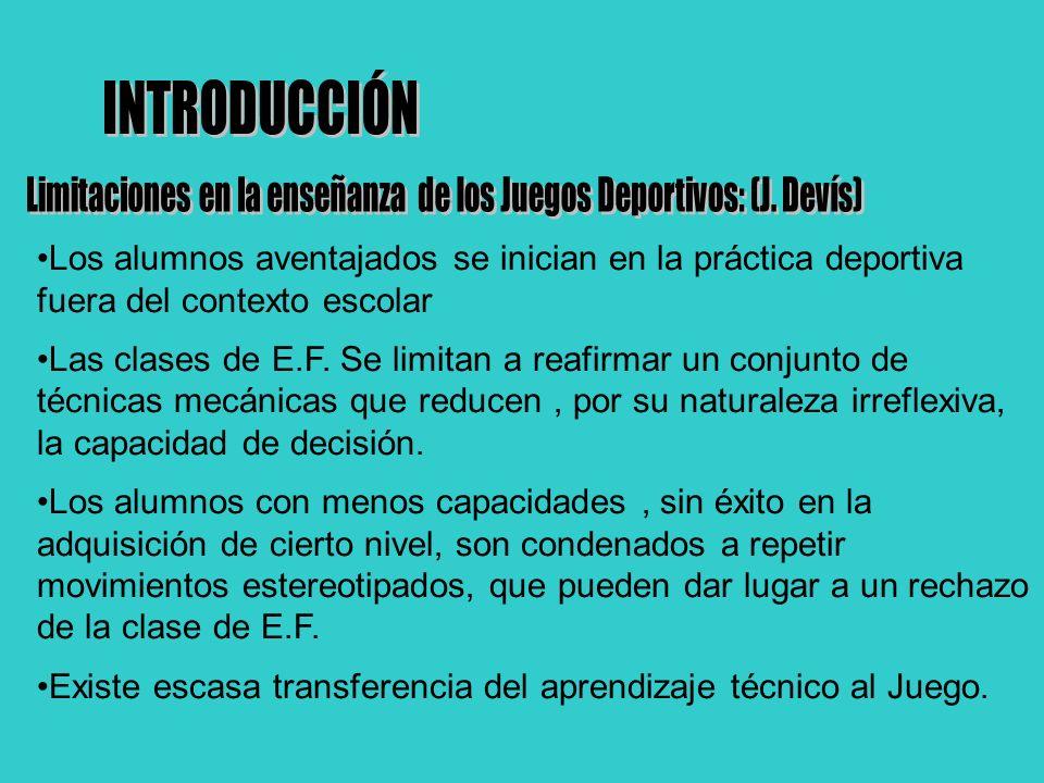 JUEGOS DEPORTIVOS MODIFICADOS Blanco y Diana Bate y Campo Cancha dividida Invasión TRANSICIÓN (Combinación de:) Juegos Modificados Situaciones de Juego Minideportes INTRODUCCIÓN A LOS DEPORTES ESTÁNDAR
