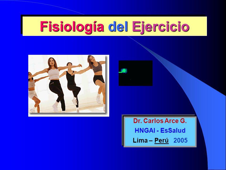 Fisiología del Ejercicio Dr. Carlos Arce G. HNGAI - EsSalud Lima – Perú 2005
