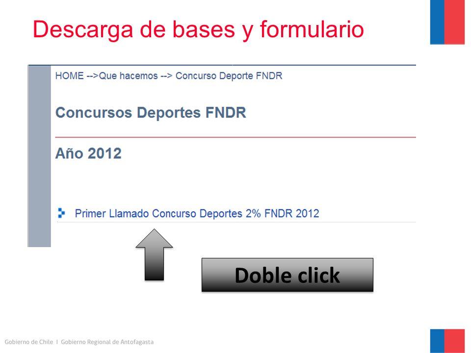 Descarga de bases y formulario Doble click