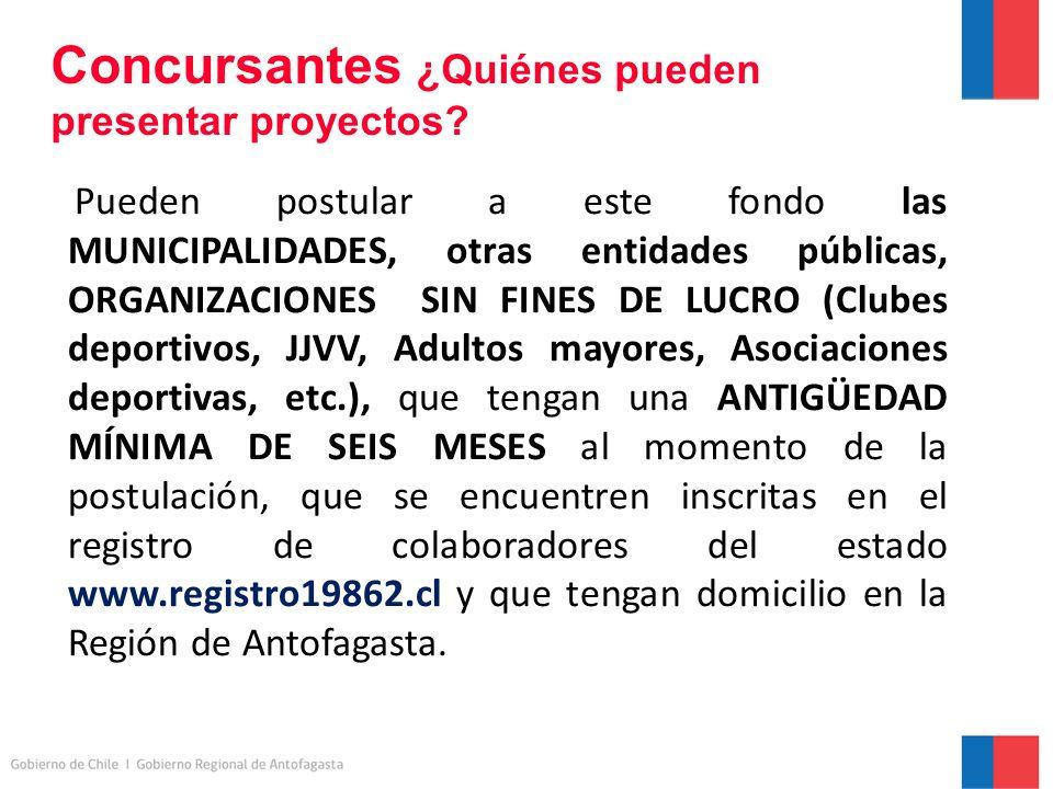 Concursantes ¿Quiénes pueden presentar proyectos.