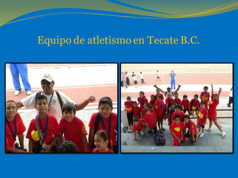 Equipo de atletismo en Tecate B.C.