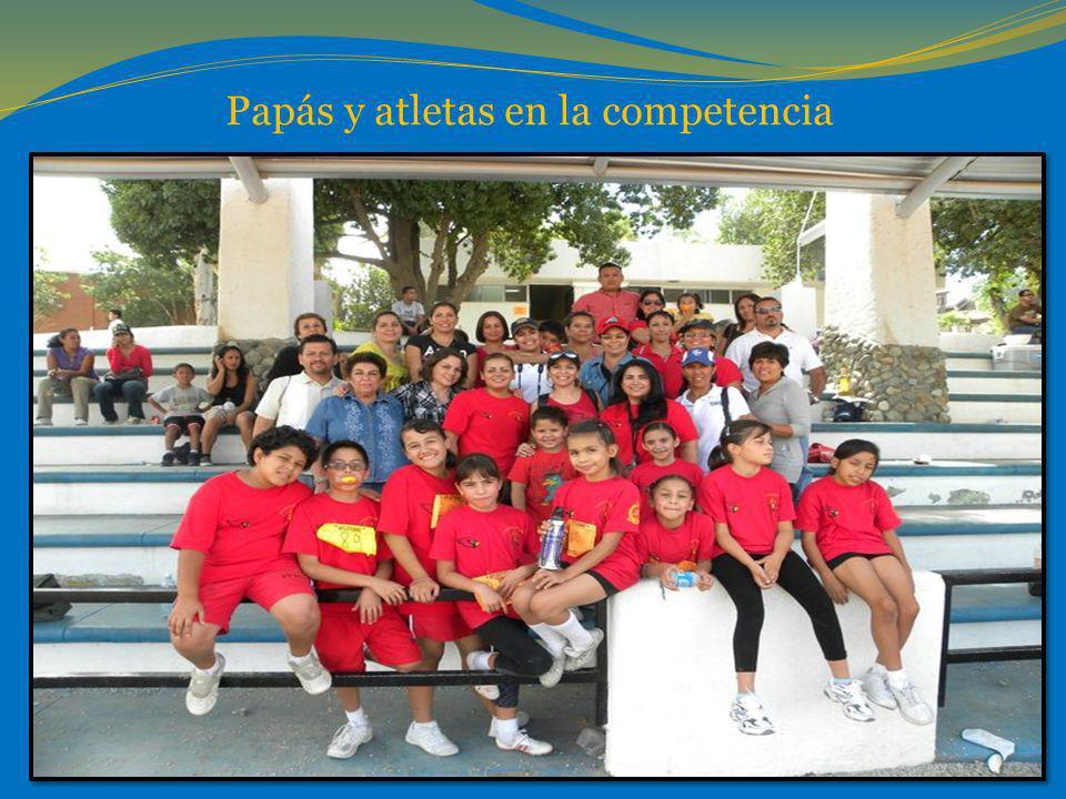 Papás y atletas en la competencia