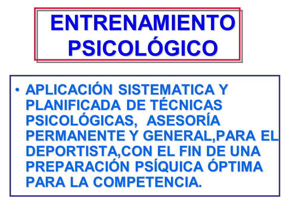 AREAS DE ENTRENAMIENTO DEPORTIVO FÍSICO TÉCNICO TÁCTICO PSICOLÓGICO