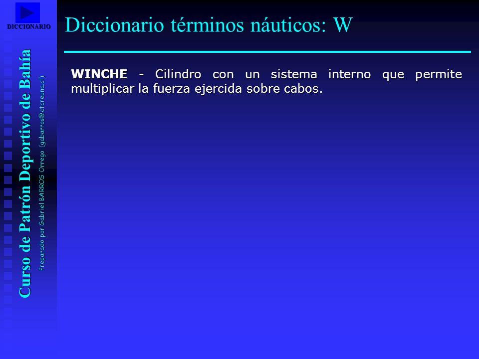 Curso de Patrón Deportivo de Bahía Preparado por Gabriel BARROS Orrego (gabarros@ctcreuna.cl) WINCHE - Cilindro con un sistema interno que permite mul