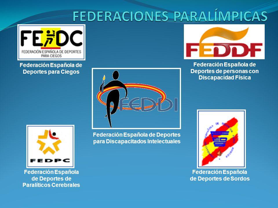Federación Española de Deportes para Ciegos Federación Española de Deportes de personas con Discapacidad Física Federación Española de Deportes para D