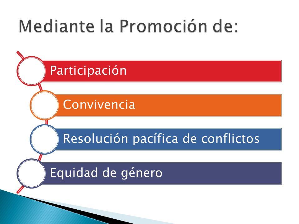 Participación Convivencia Resolución pacífica de conflictos Equidad de género