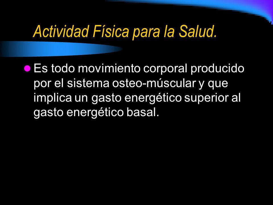 Actividad Física para la Salud.