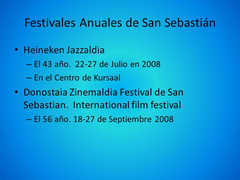 Festivales Anuales de San Sebastián Heineken Jazzaldia – El 43 año. 22-27 de Julio en 2008 – En el Centro de Kursaal Donostaia Zinemaldia Festival de