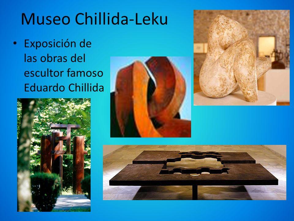 Museo Chillida-Leku Exposición de las obras del escultor famoso Eduardo Chillida