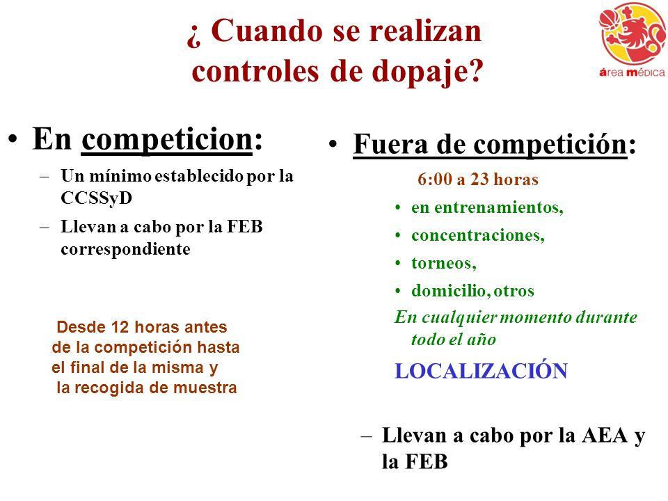Localización de deportistas ( Real Decreto 641/2009 de 17 abril 2009, art.