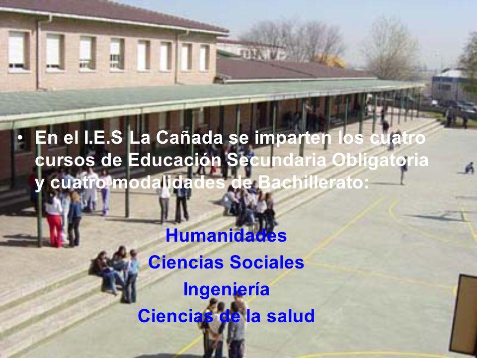 En el I.E.S La Cañada se imparten los cuatro cursos de Educación Secundaria Obligatoria y cuatro modalidades de Bachillerato: Humanidades Ciencias Soc