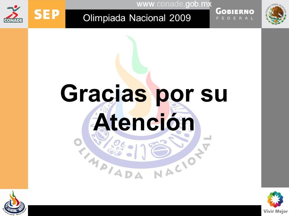 www.conade.gob.mx Gracias por su Atención Olimpiada Nacional 2009