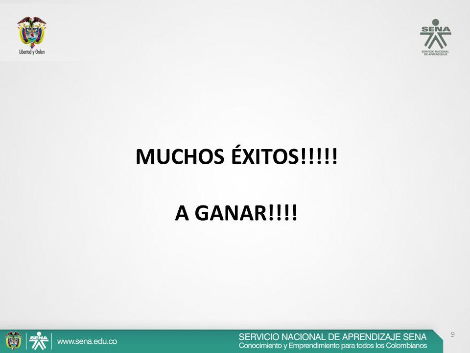 9 MUCHOS ÉXITOS!!!!! A GANAR!!!!