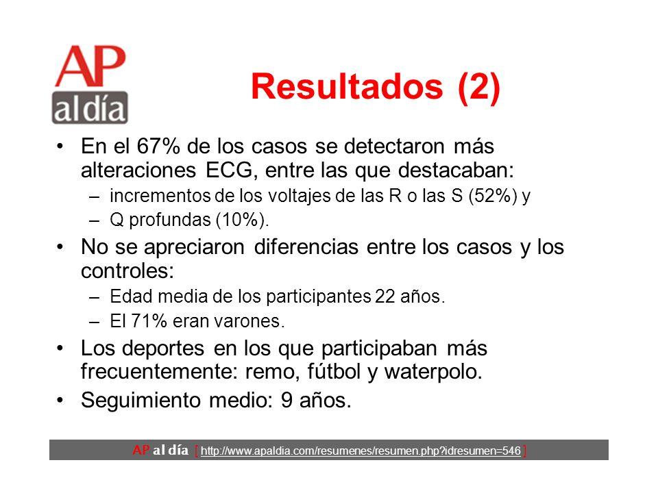 AP al día [ http://www.apaldia.com/resumenes/resumen.php idresumen=546 ] Resultados (1)
